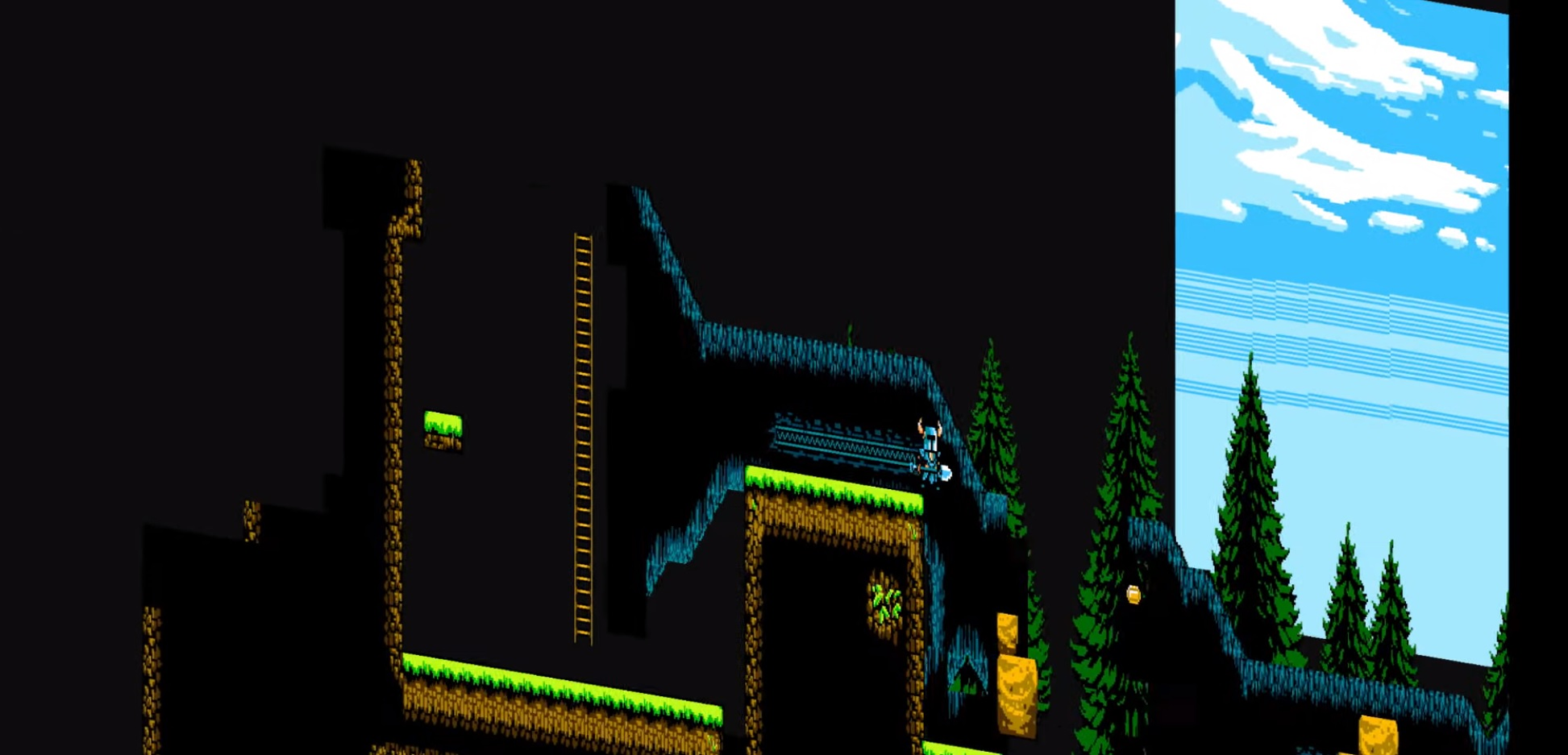 Seemingly 2D platformer Shovel Knight is secretly run with a 3D engine