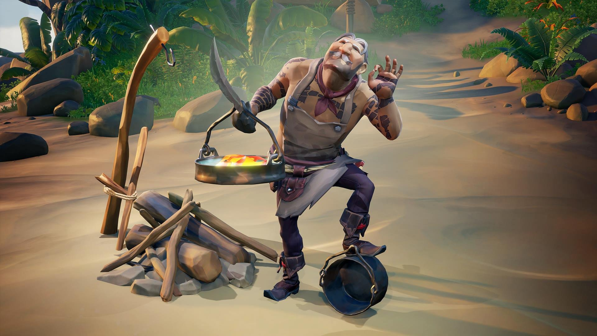 Sea of Thieves has new achievements for cooking, fishing