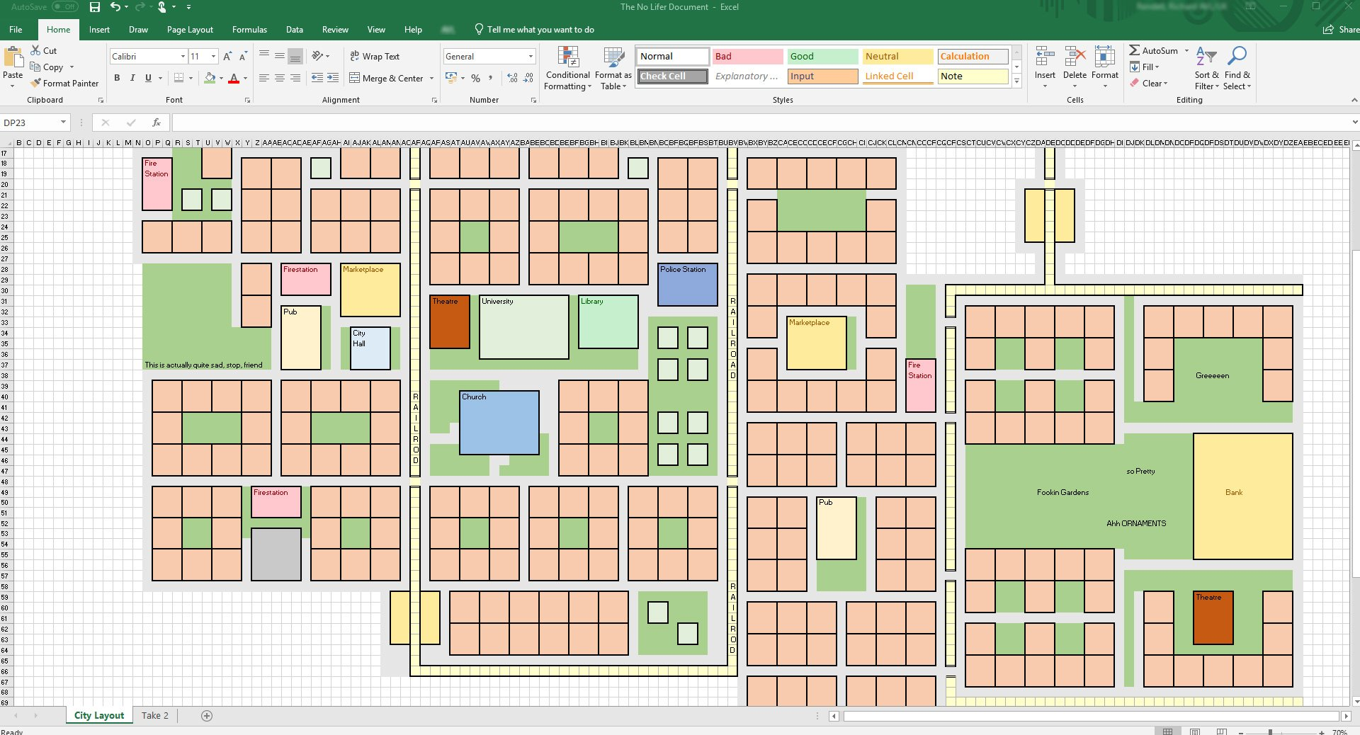 Recreating Anno 1800 in Excel at work