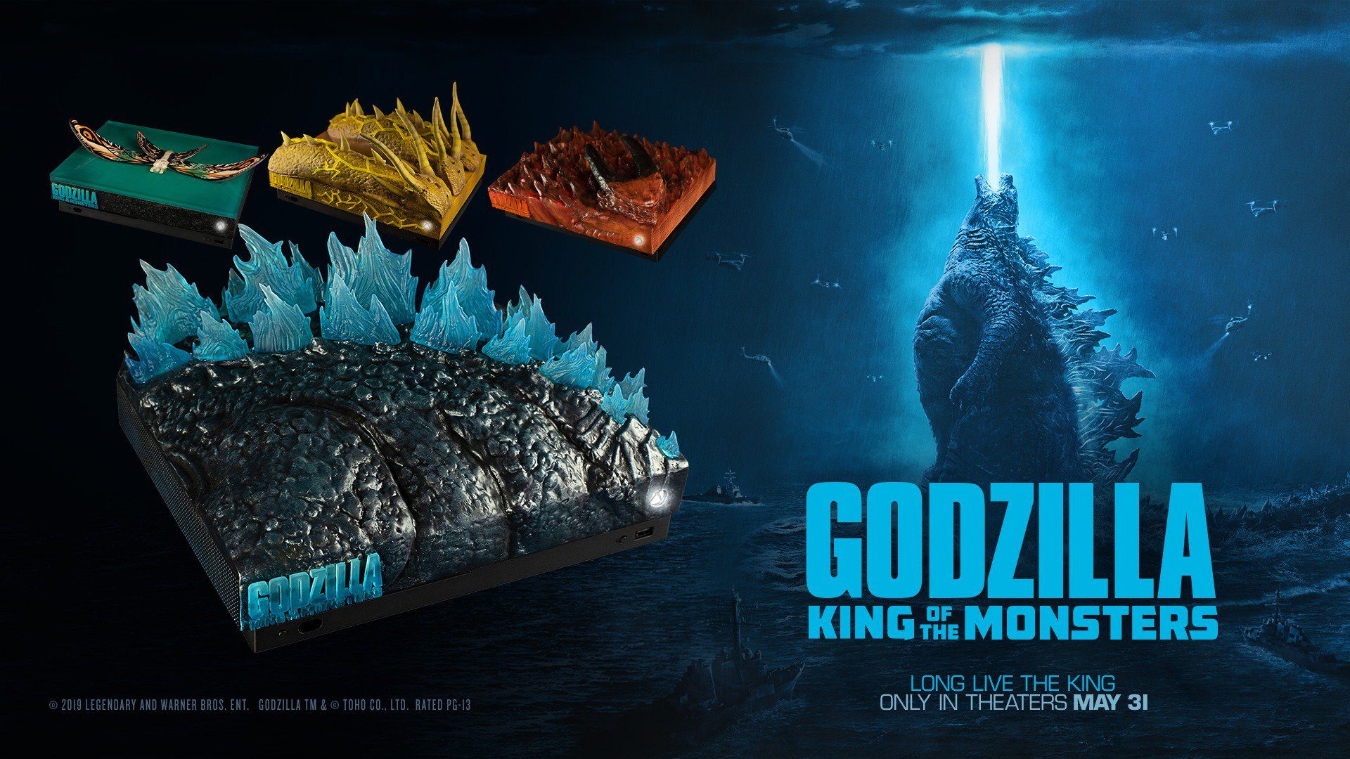 This Xbox One looks like a chunk of Godzilla screenshot
