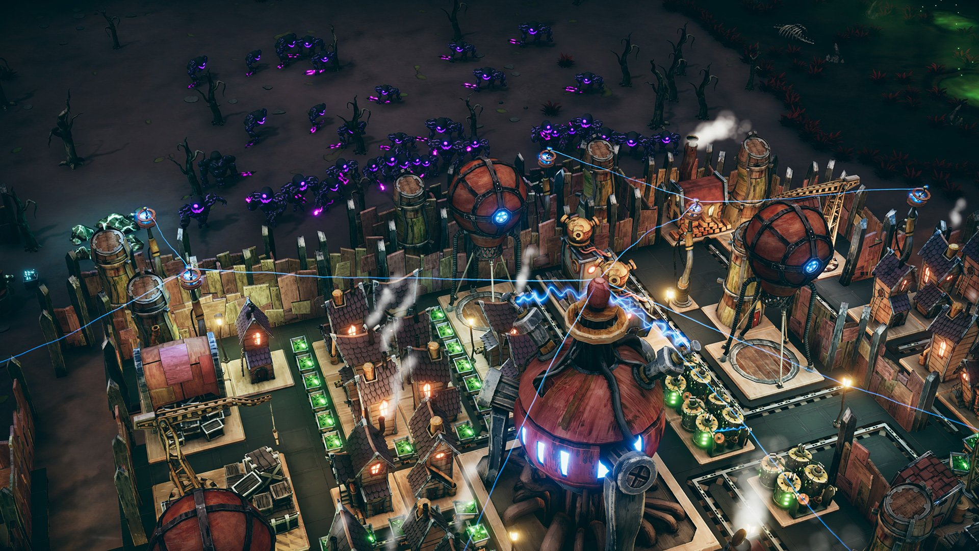 Wandering city-builder Dream Engines lets you float away to escape and find untapped resources screenshot