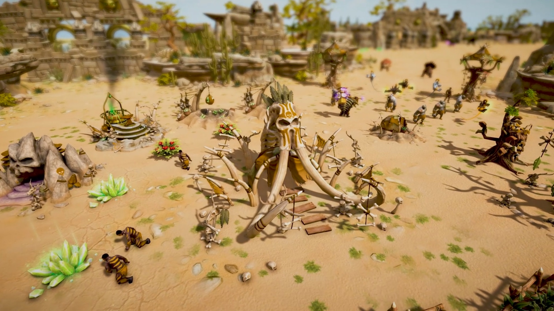 Contest: Fight dinosaurs, cavemen, and giant lizards in RTS Warparty screenshot