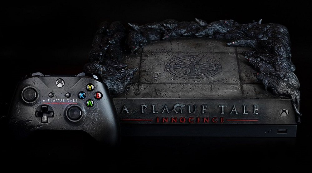 You could win this ratty-looking Plague Tale Xbox One console screenshot