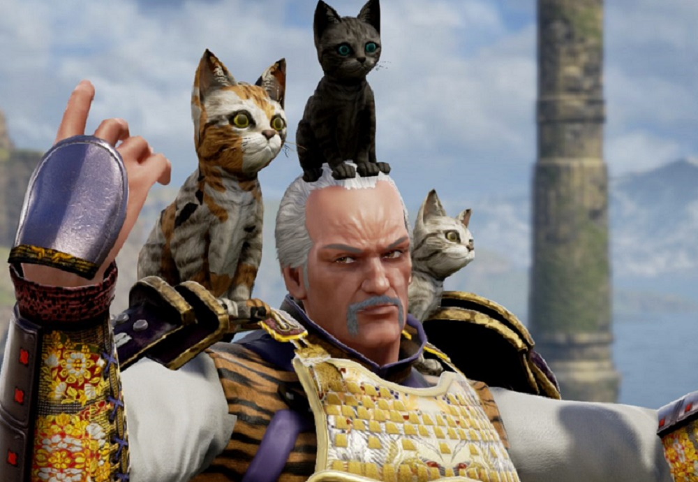 New Soulcalibur VI DLC lets you put a kitten on your head. That's the story. screenshot