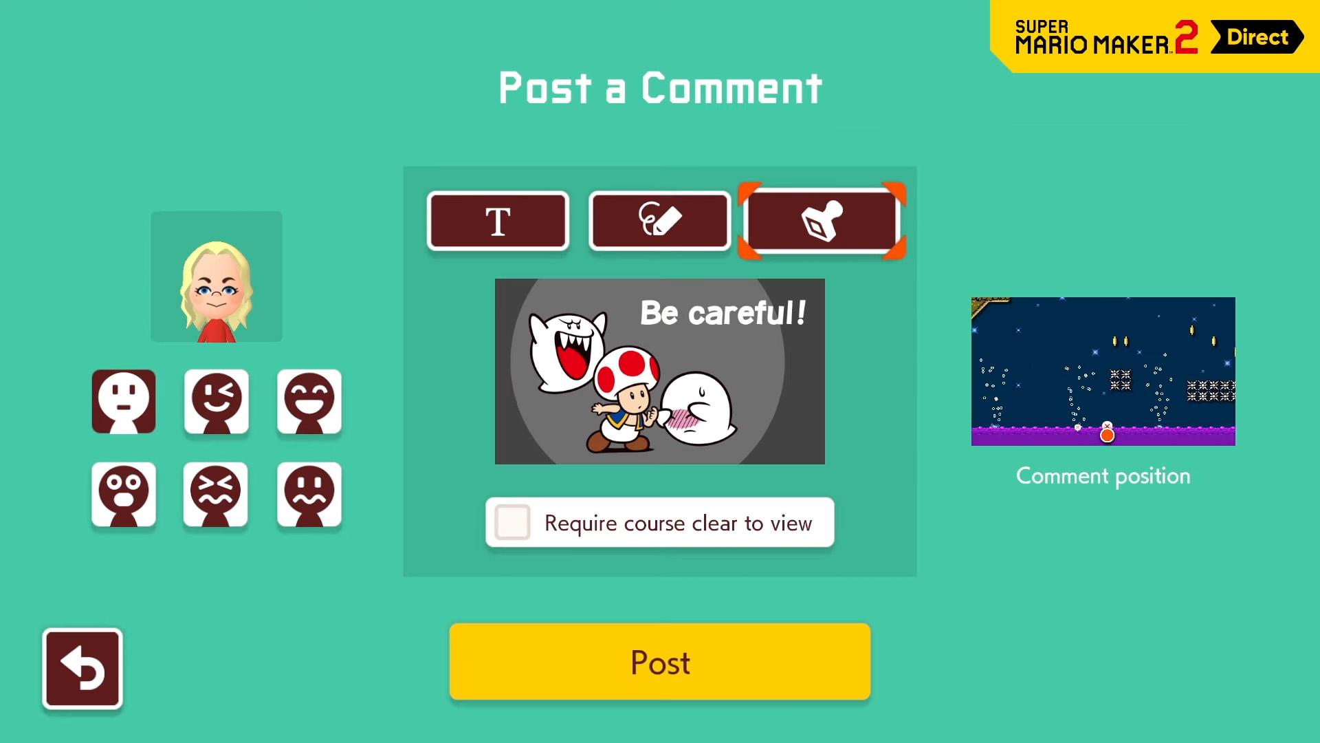 Super Mario Maker 2 comments