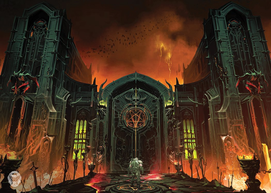 This Doom Eternal Gates Of Hell Concept Art Looks Like An 80s
