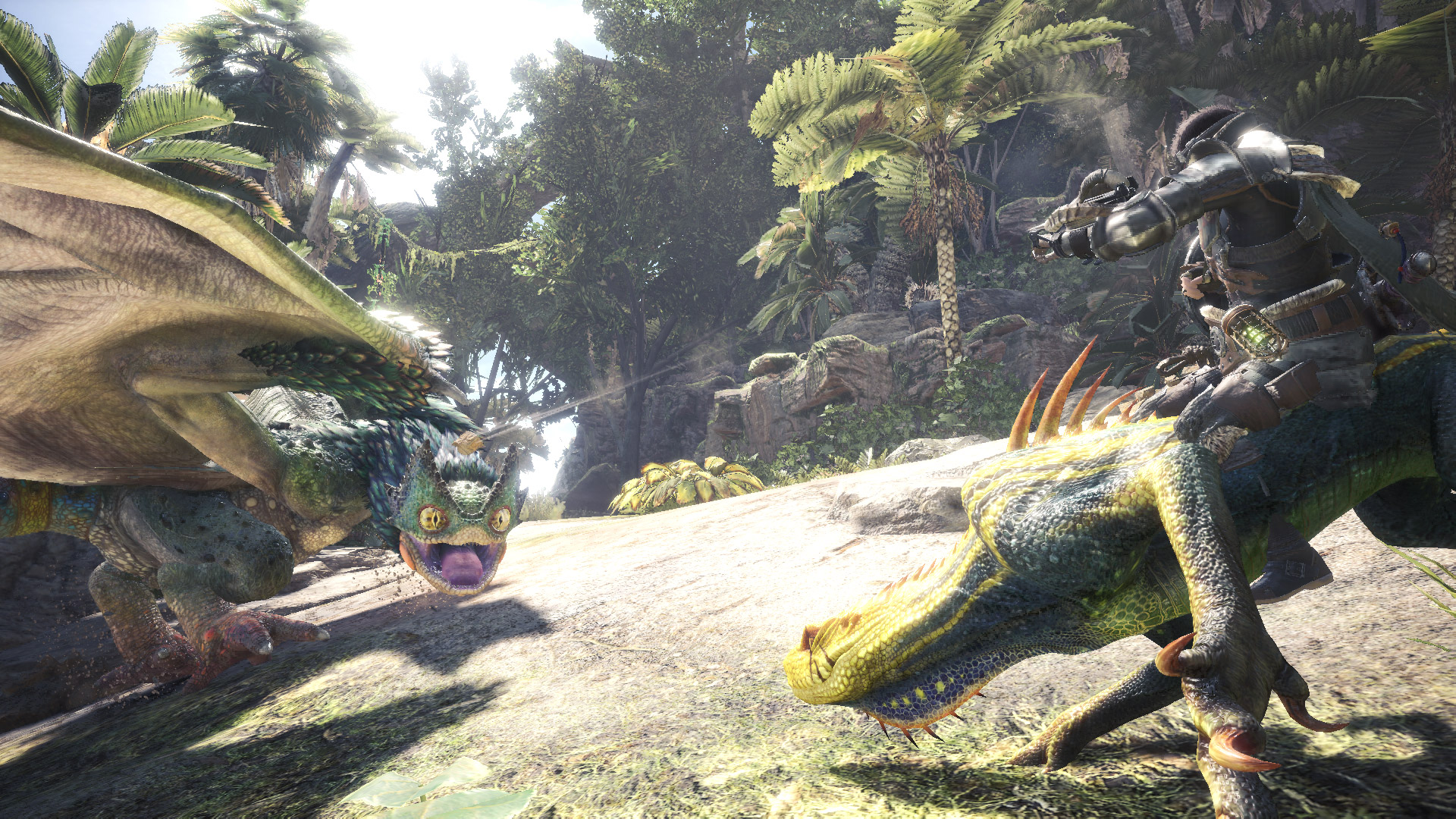 You can ride a Jagras in Monster Hunter World: Iceborne