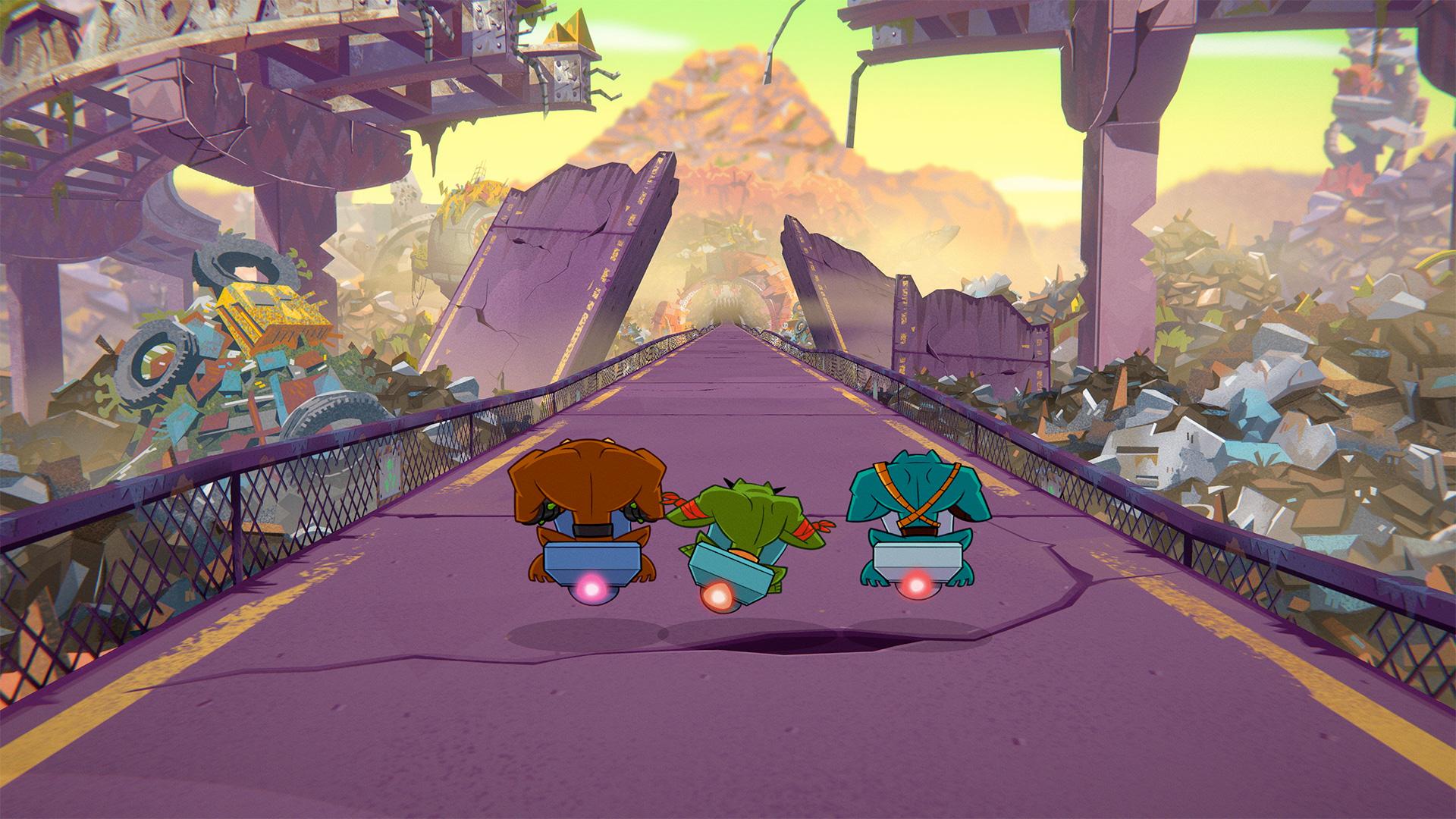 Battletoads Xbox One level hoverbike