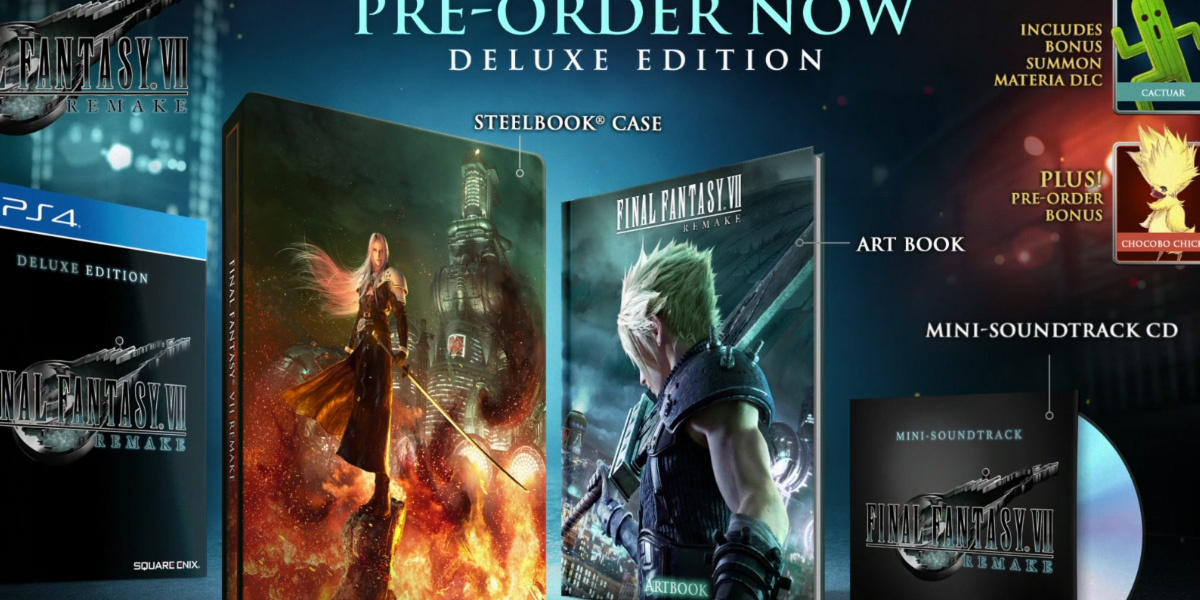 Check out the kick-ass collector's edition for Final Fantasy VII Remake screenshot