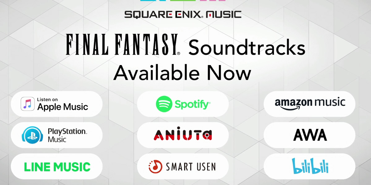 The Final Fantasy soundtracks are now available pretty much