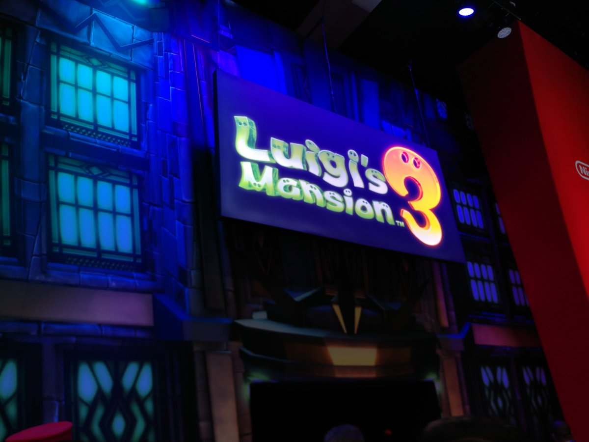 The most terrifying thing in Nintendo's Luigi's Mansion 3 booth was apparently me screenshot