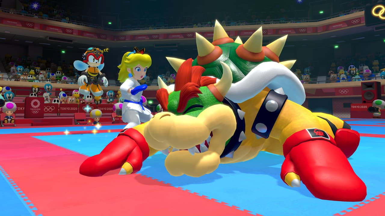 Amy Off Of Sonic in mario & sonic at the 2020 olympics, peach can finally get