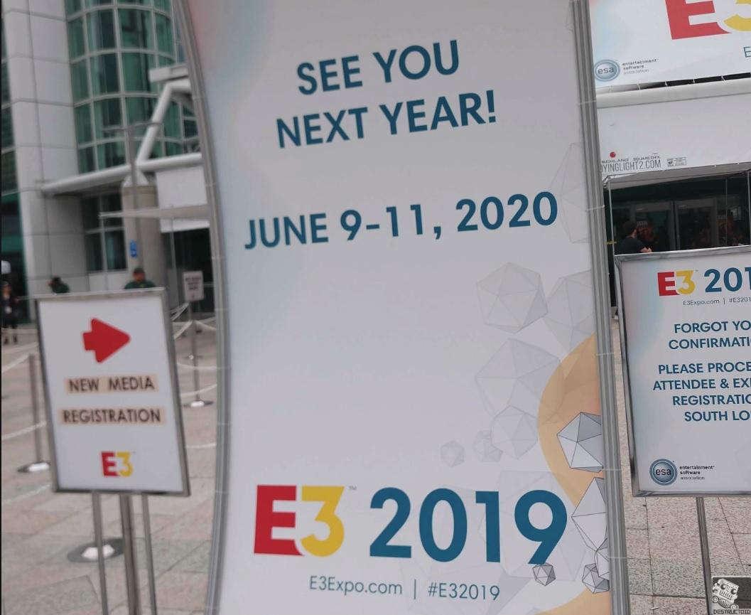 E3 2020 Schedule E3 2020 dates are already locked in: June 9 11