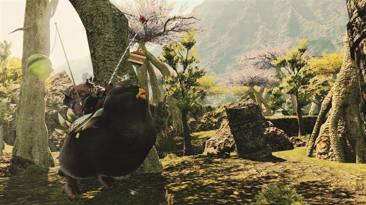 Final Fantasy XIV has an Amazon promotion for a free big ol' Chocobo mount screenshot