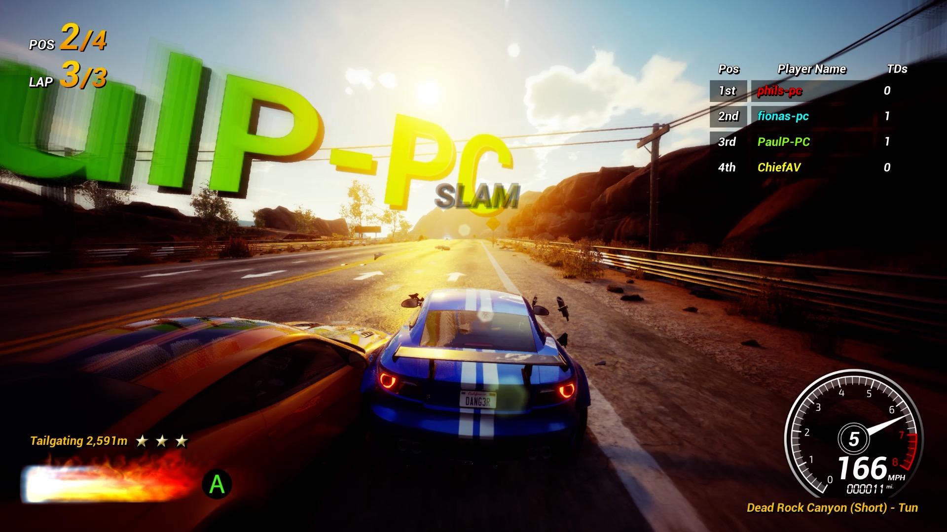 Burn rubber online in Dangerous Driving's new mode screenshot