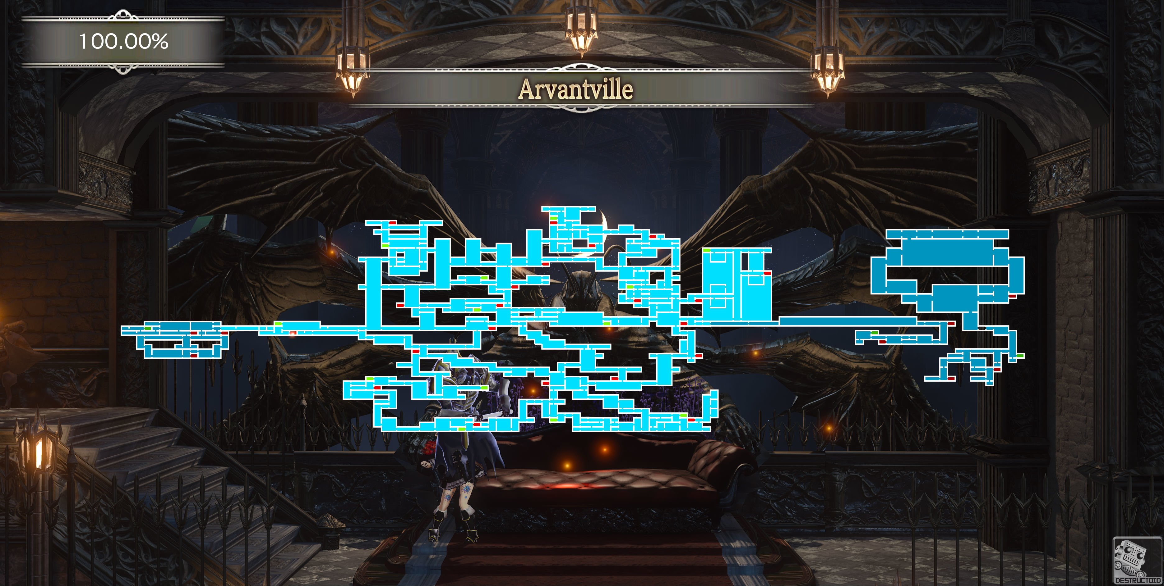 Bloodstained guide: Here's a 100% full map with zoomed-in