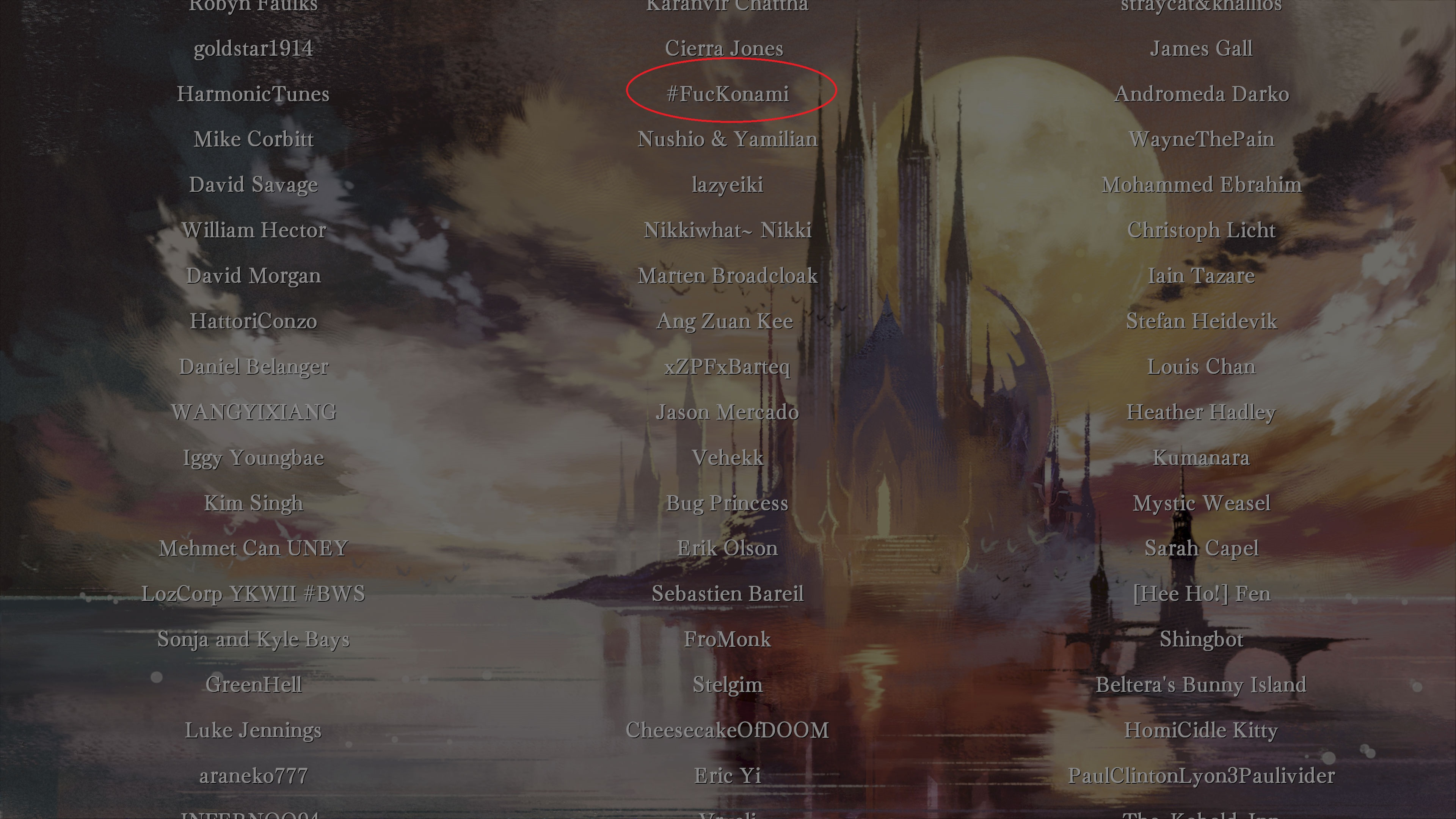 A Few Choice Names Snuck Into The Official Bloodstained Credits