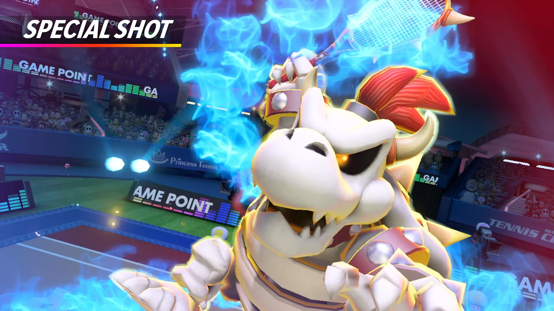 Dry Bowser reminds me that I haven't played Mario Tennis Aces in ages screenshot