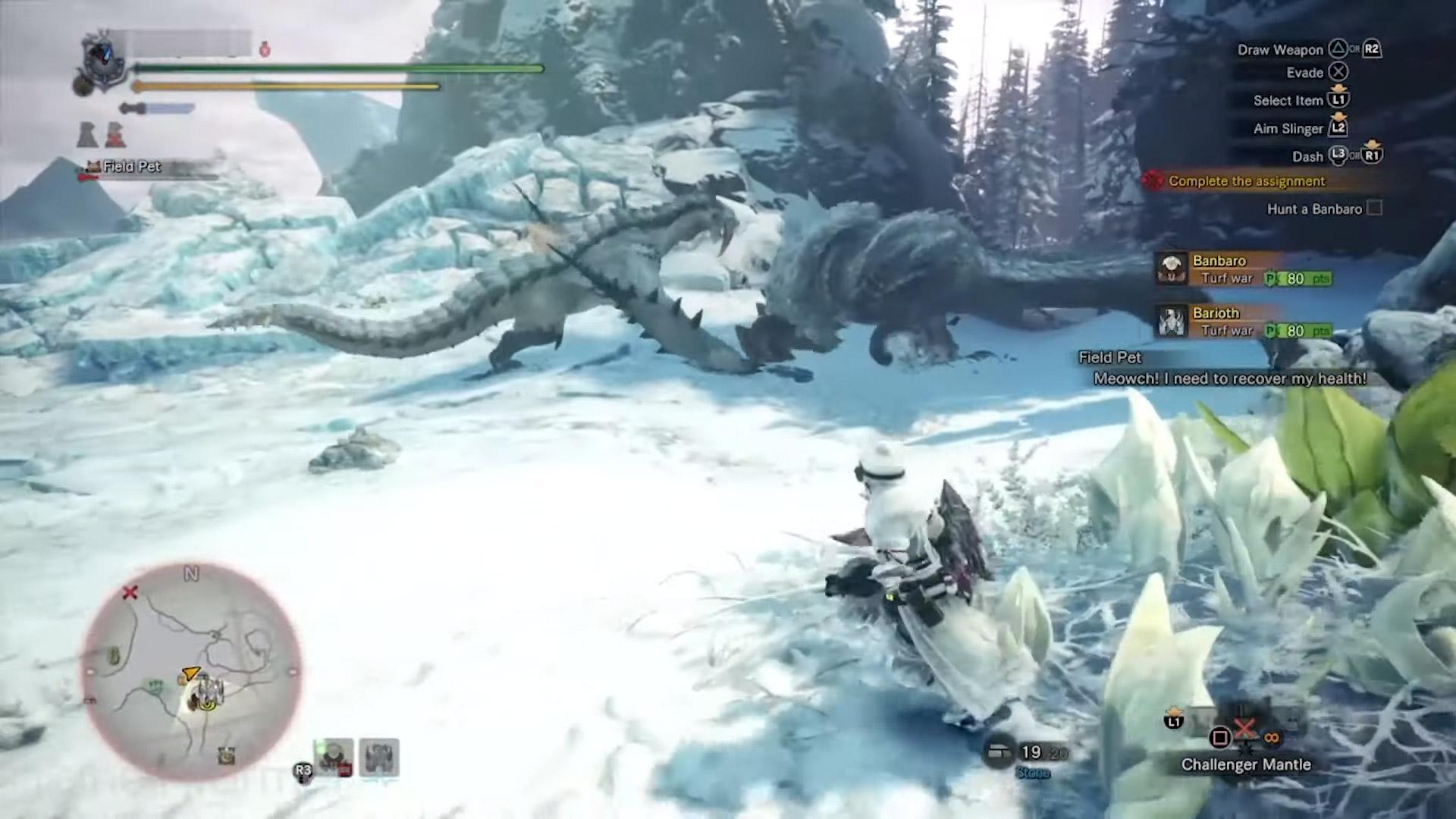 Barioth is barreling into Monster Hunter World: Iceborne screenshot