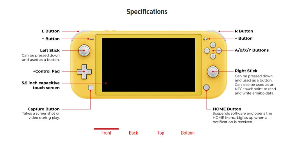 Switch Lite Layout