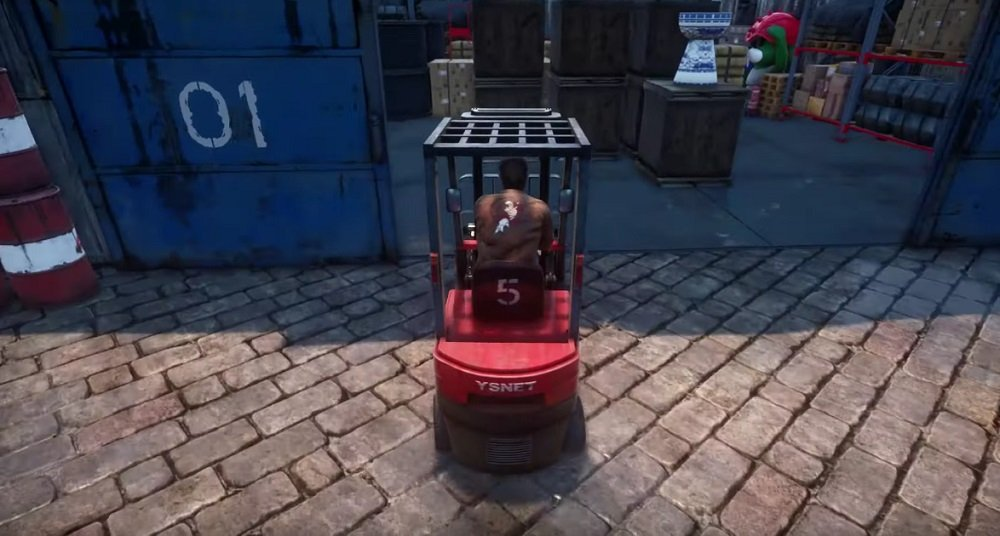 New Shenmue III 'kiosk' trailer finally features hot forklift action screenshot