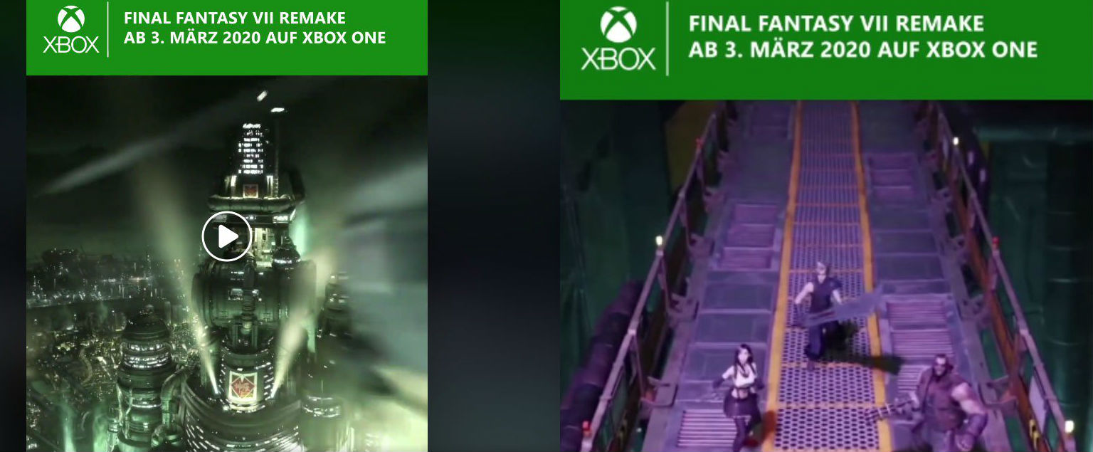 (Update) Xbox Germany announces Final Fantasy VII Remake for Xbox One, promptly deletes post screenshot