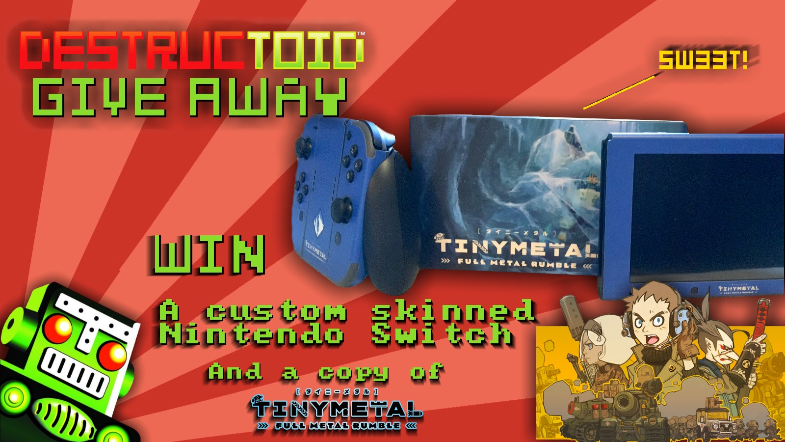 Contest: Win a custom Switch console from Tiny Metal: Full Metal Rumble screenshot