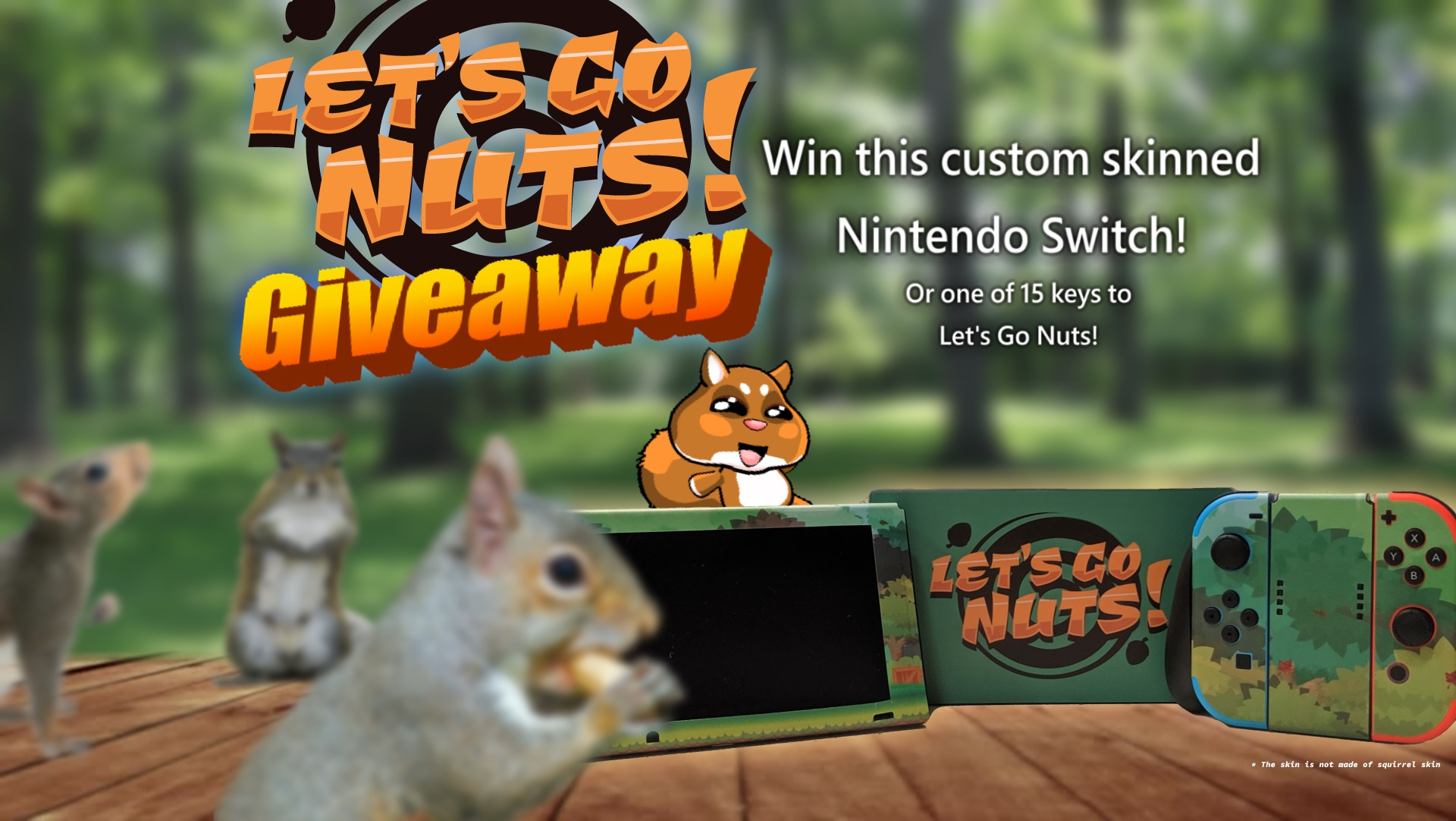 Contest: Win a custom Switch console from Let's Go Nuts screenshot