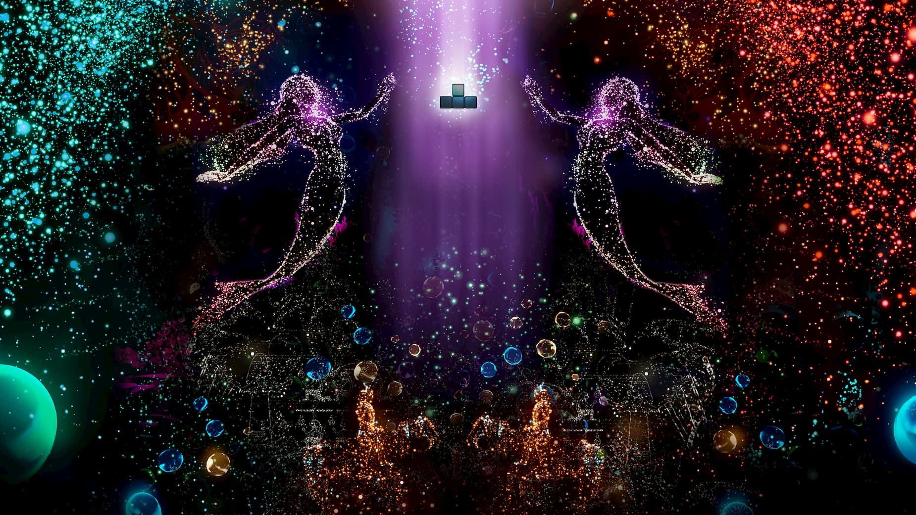 Epic Game Store exclusive Tetris Effect requires Steam VR for its VR mode screenshot