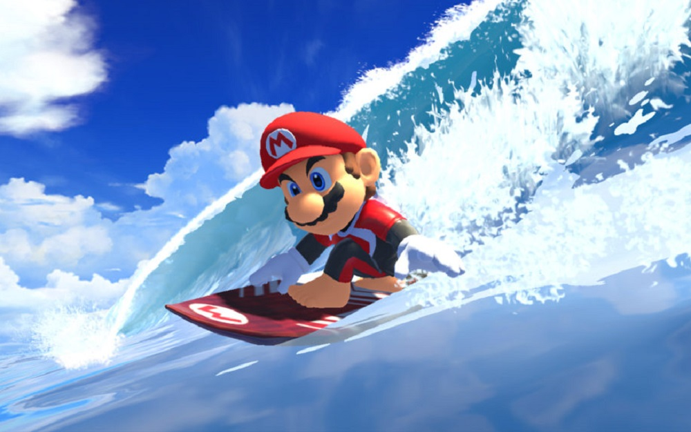 Mario hits the waves in Mario & Sonic at the Olympic Games Tokyo 2020 screenshot