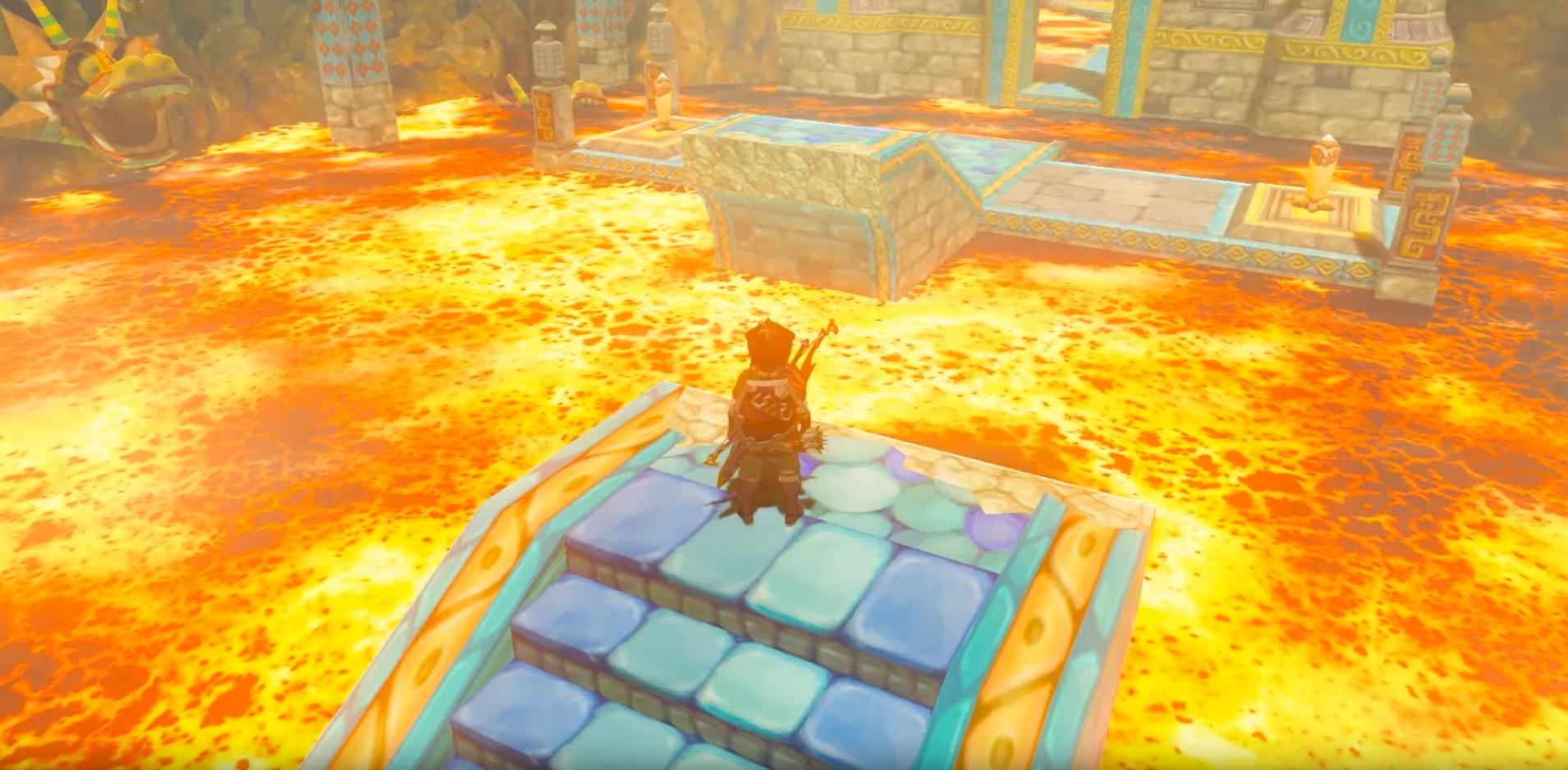 Zelda: Breath of the Wild has a playable Skyward Sword Earth Temple thanks to a modder screenshot