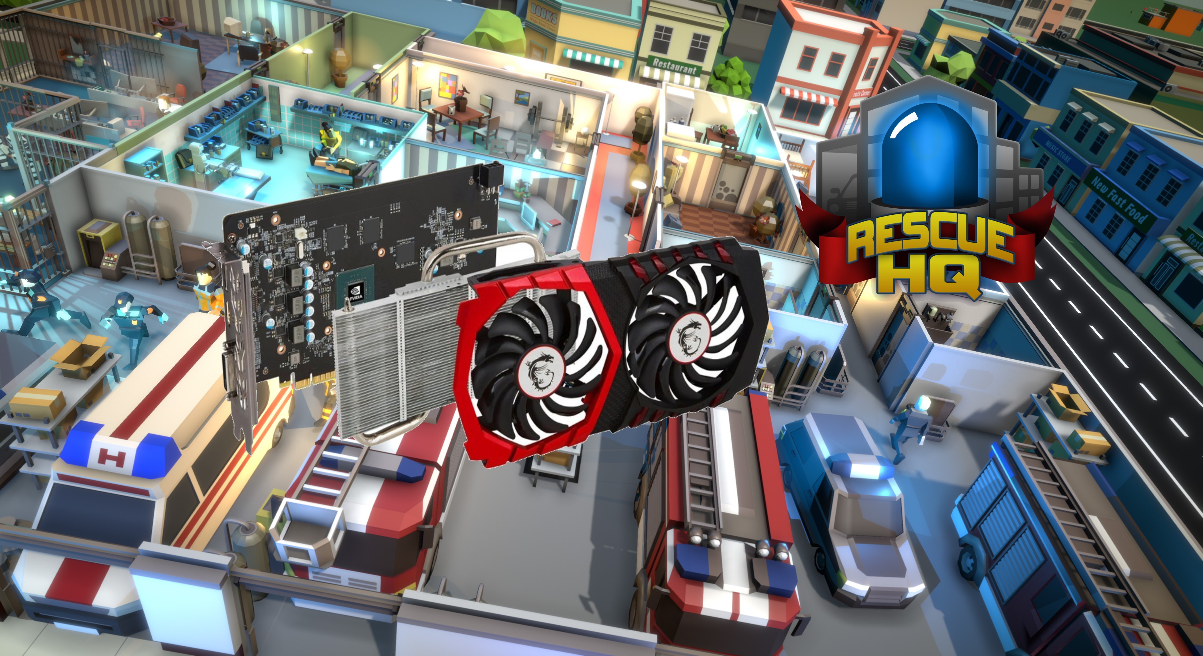 Contest: Win a new graphics card to play Rescue HQ: The Tycoon screenshot