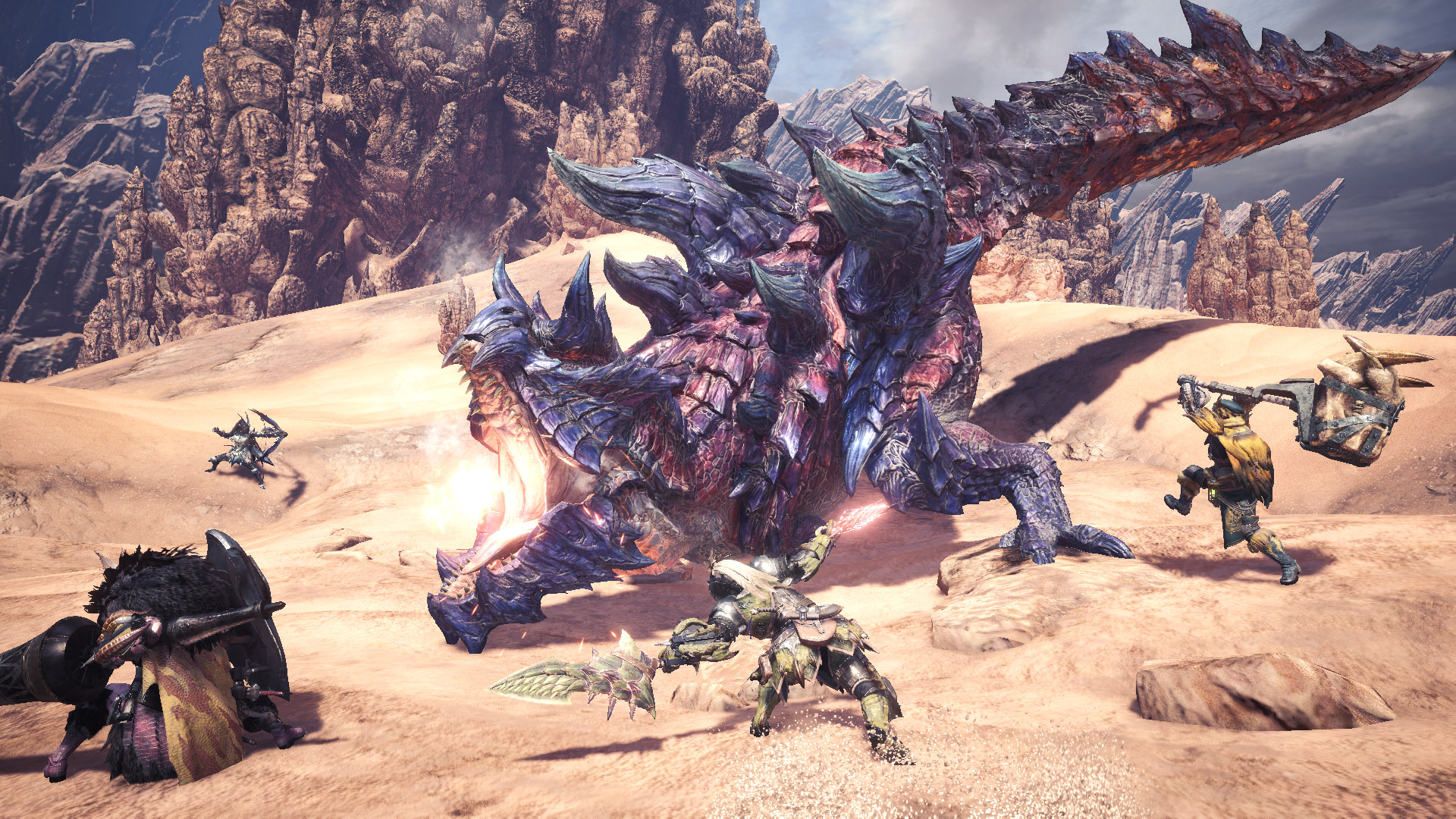 Glavenus returns in Monster Hunter World: Iceborne