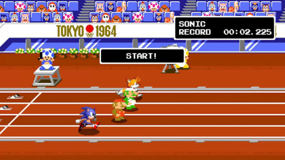 Mario & Sonic at the Olympic Games Tokyo 2020 is getting an intriguing retro mode screenshot