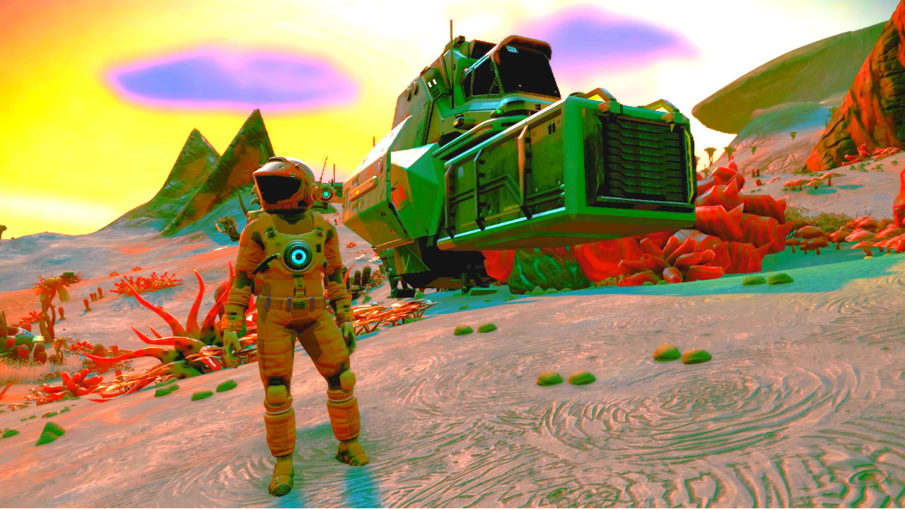 Here's Rocket League in No Man's Sky because the universe is wild screenshot