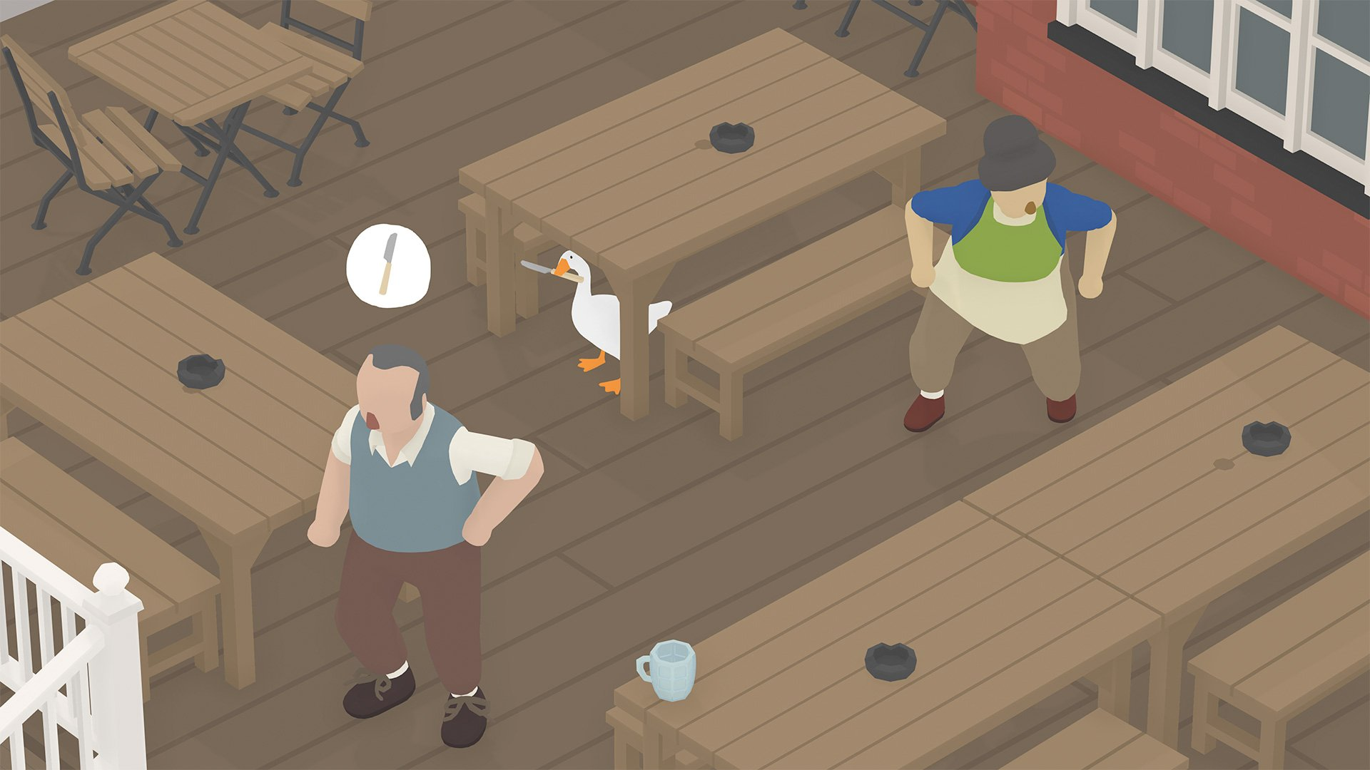Human-pestering sim Untitled Goose Game lands on Switch and PC in September screenshot