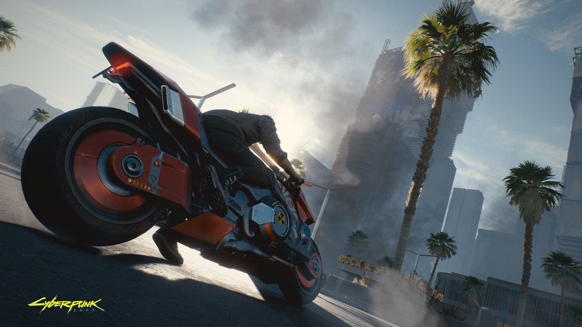 Here's the Cyberpunk 2077 E3 gameplay demo... sort of screenshot