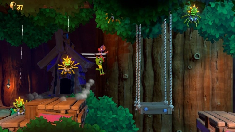 An eShop listing has revealed Yooka-Laylee and the Impossible Lair's release date screenshot