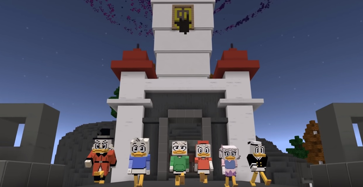 There's an official DuckTales Minecraft DLC: I'd buy that for a Number One Dime