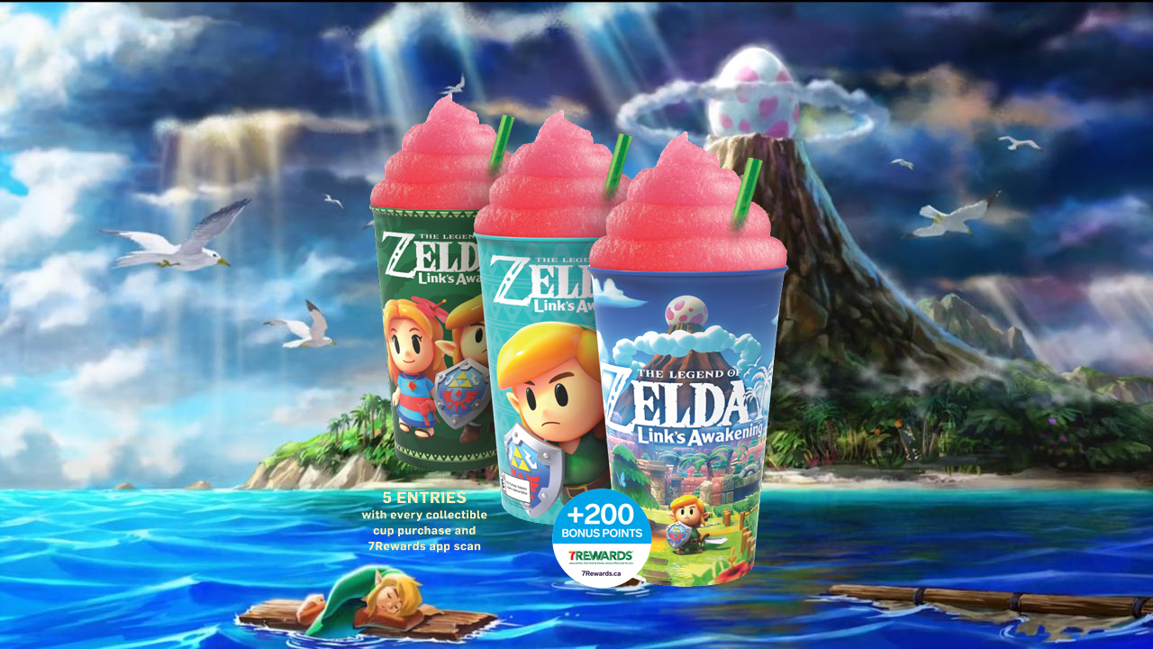 7/11 Canada is hosting a Switch giveaway with Link's Awakening Slurpee cups screenshot