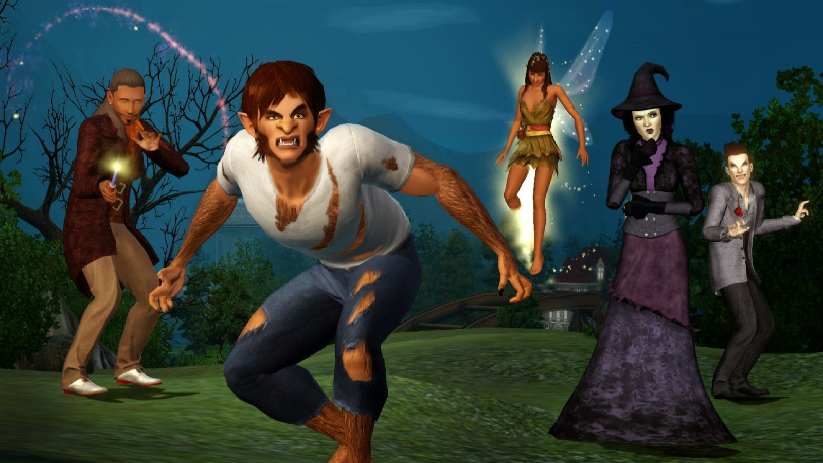 The Sims 4: Realm of Magic is like Harry Potter meets The CW screenshot