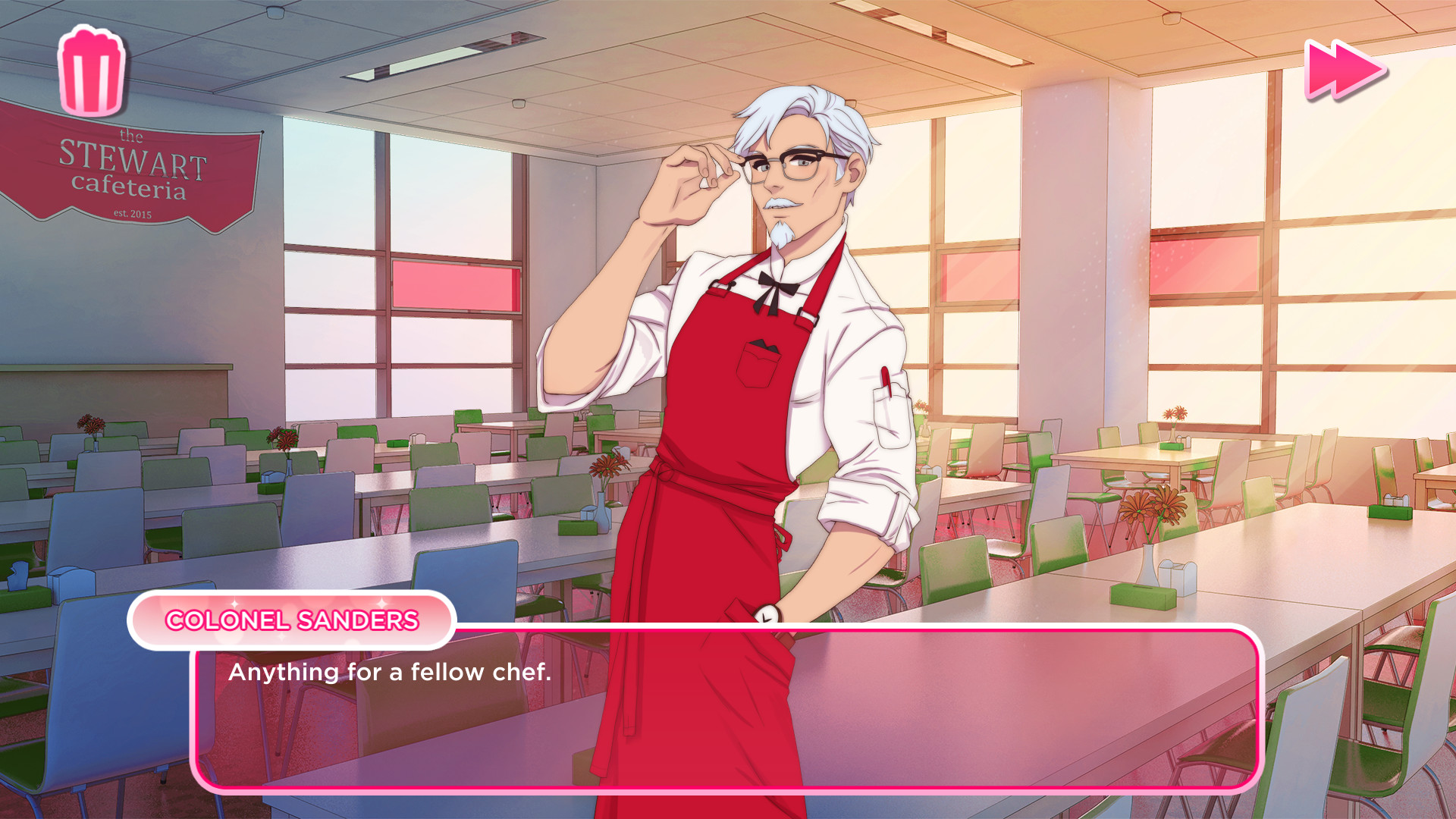 KFC is making a dating sim where you can date Colonel Sanders, and my life is complete screenshot