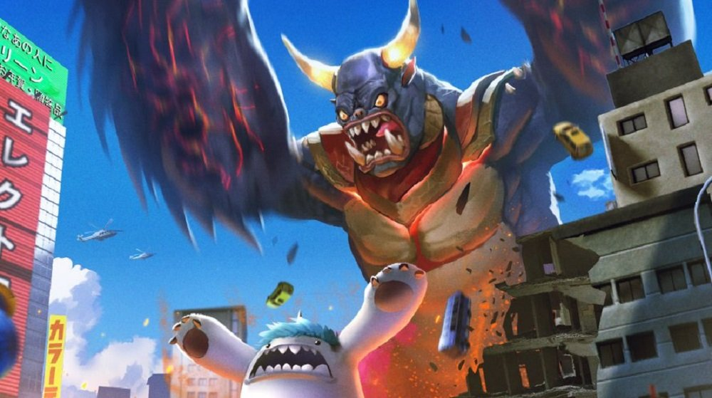 Become King of the Monsters in city-trashing brawler GigaBash screenshot