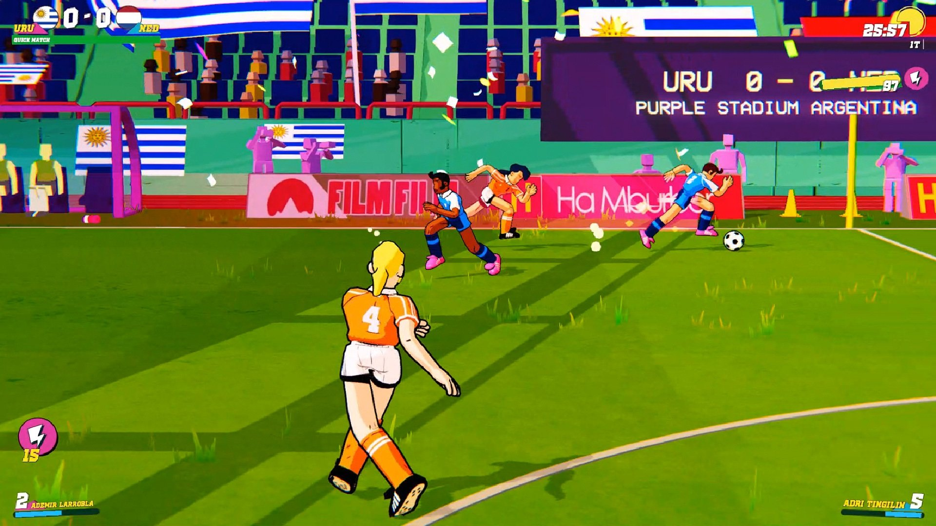 Contest: Make soccer actually fun to play with a Switch copy of Golazo! screenshot