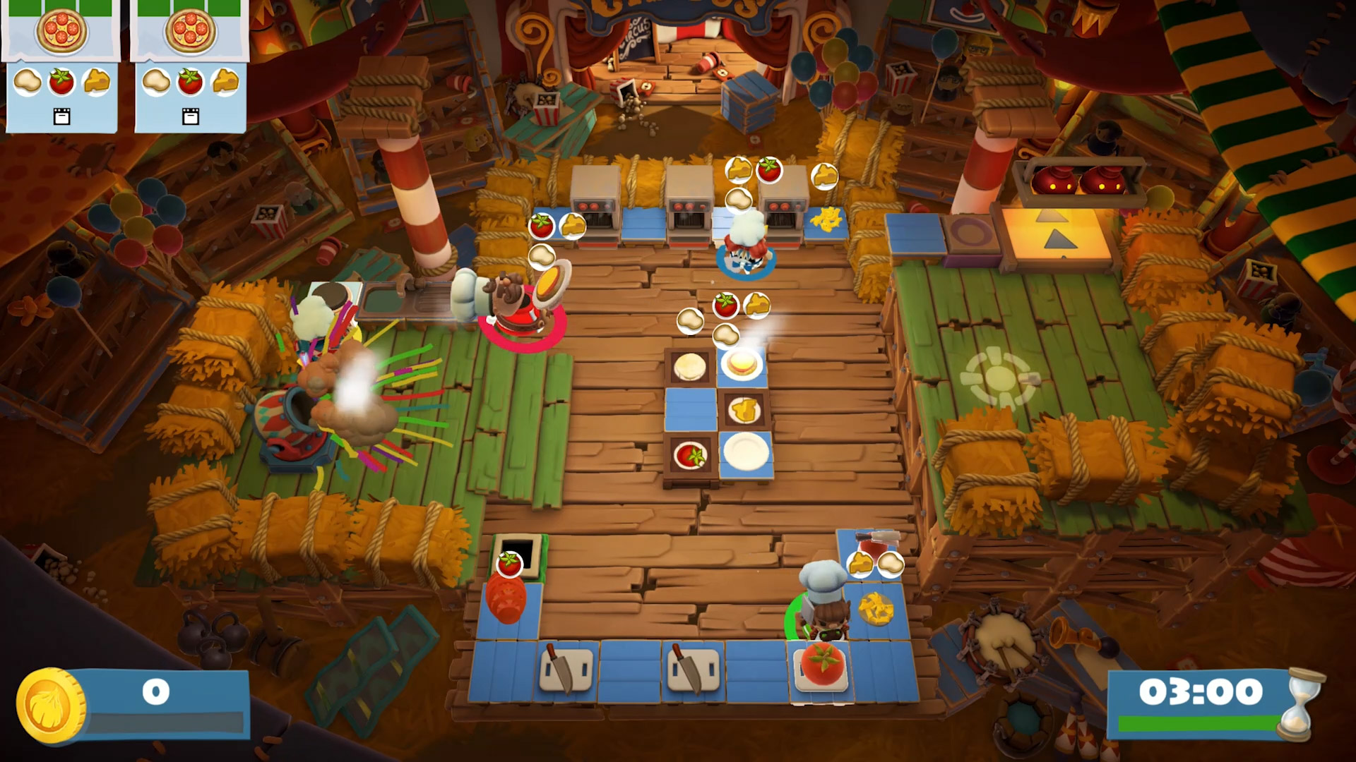 Overcooked 2 - Carnival of Chaos is serving up hot dogs and human cannonballs