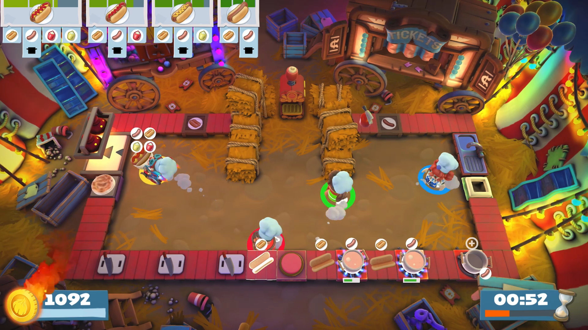Review: Overcooked 2 - Carnival of Chaos screenshot