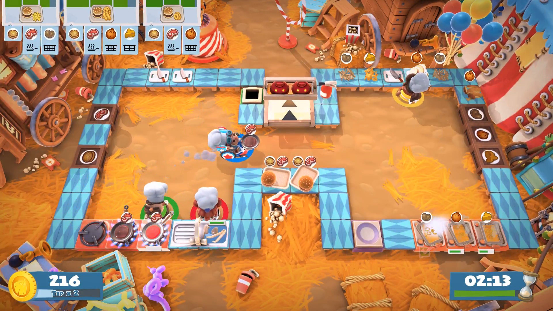 Overcooked 2 - Carnival of Chaos review for Nintendo Switch