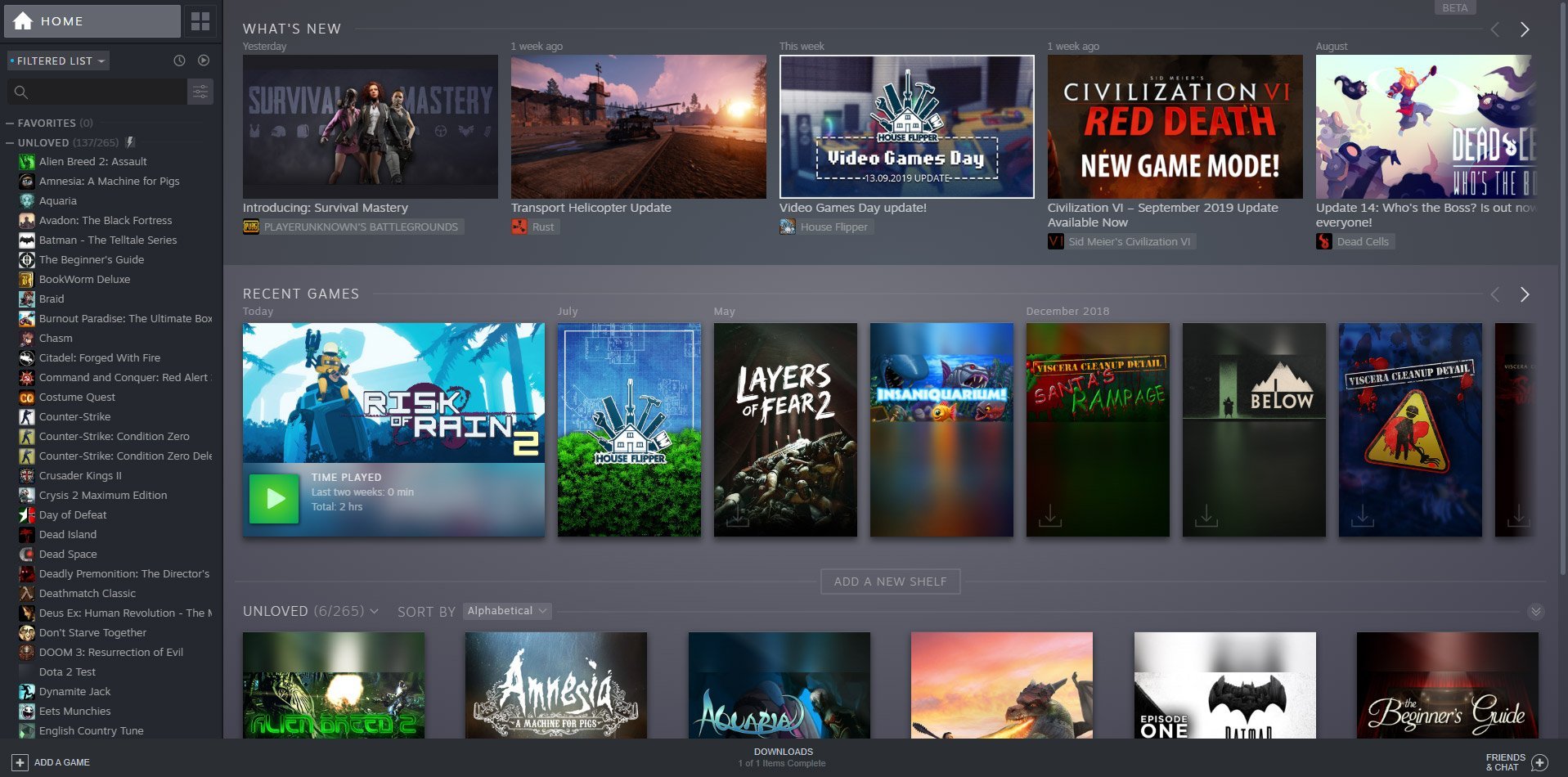 The 2019 Steam library makeover