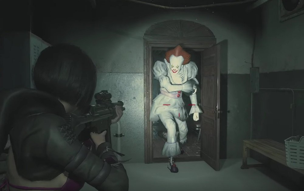 Resident Evil 2 Mod Swaps Mr X For It S Pennywise