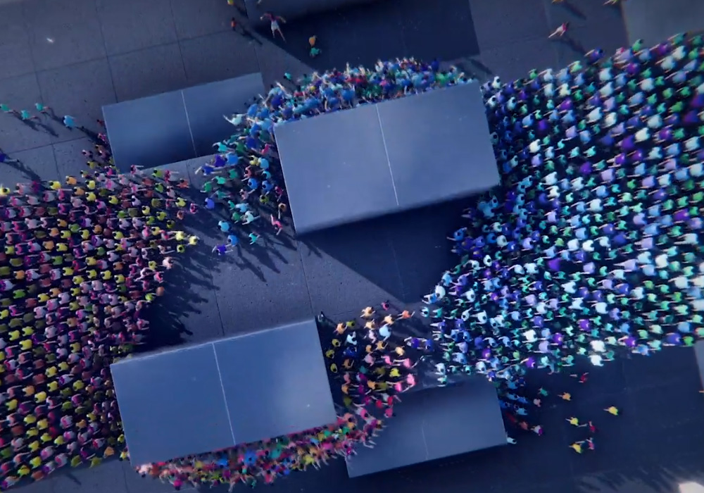 Humanity looks like Intelligent Qube but with armies of people fighting each other screenshot